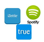 Loggor Spotify, truecaller