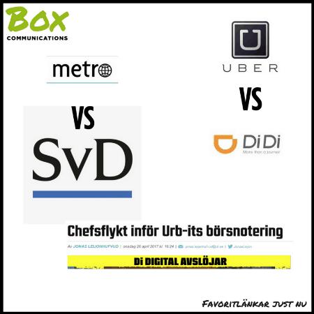 Favoritlänkar just nu: Följetongen Metro, taxi-appar och Stockholms startup-scen m.m.