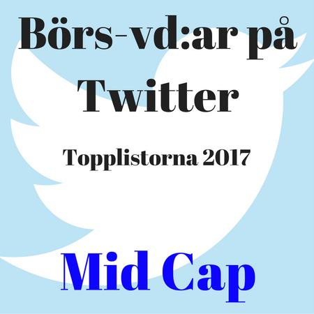 Börs-vd:ar på Twitter, topplistorna 2017: Mid Cap