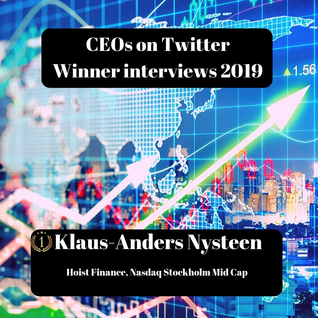 CEOs on Twitter, Klaus-Anders Nysteen, Hoist Finance