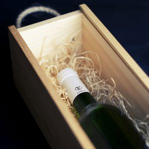 boite à bouteille de vin en bois à l'unité