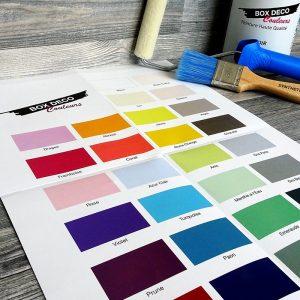 nuancier box déco couleurs gratuit 28 teintes disponibles