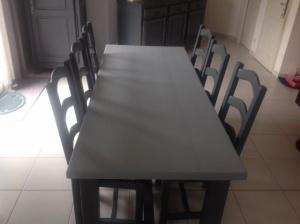peindre table en bois et chaises