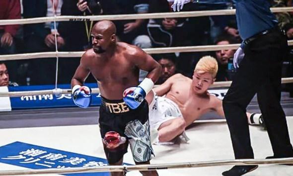 Floyd MAYWEATHER vs Tenshin NASUKAWA - Full Fight Video - BOXE RIZIN