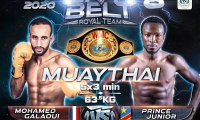 Mohamed Galaoui remplace Adam Larfi face à Prince Junior au Lion Belt 8