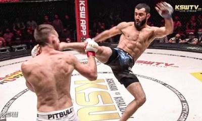 KSW - Mamed Khalidov réalise un énorme KO sur coup de pied sauté
