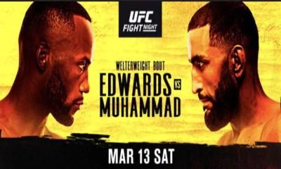 UFC Vegas 21 - Résultats Edwards vs Muhammad