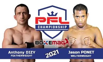 Jason Ponet et Anthony Dizy au PFL MMA pour des tournois à 1 million de dollars