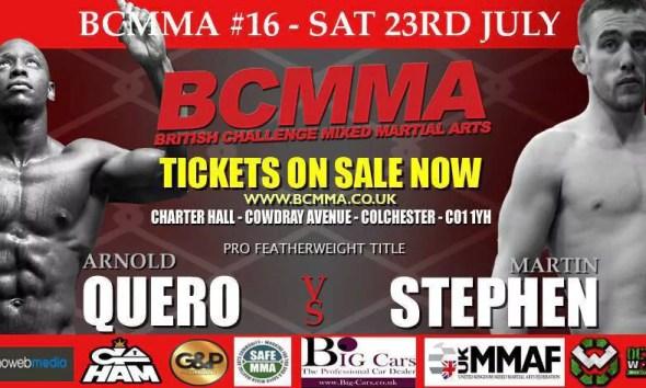 Arnold QUERO Vs Stephen MARTIN - Full Fight Video - BCMMA 16