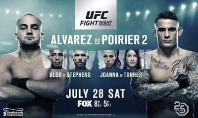 UFC on FOX 30 - Alvarez vs Poirier 2 - Résultats et Bonus