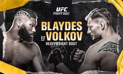 UFC VEGAS 3 Résultats - Blaydes vs Volkov