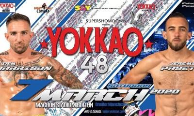 PAYET vs HARRISON reprogrammé pour le 7 mars au YOKKAO 48