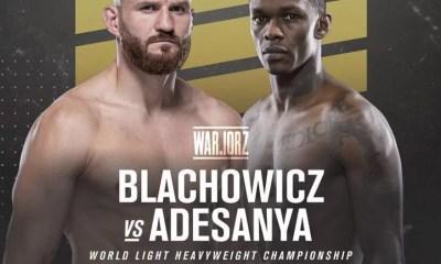 Israël Adesanya vs Jan Blachowicz officialisé pour l'UFC 259