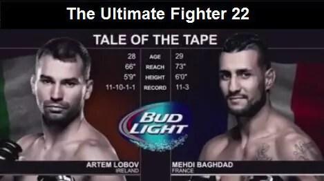 Mehdi Baghdad vs Artem Lobov - Full Fight Video - TUF 22