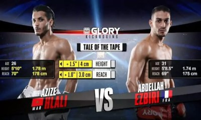 Abdellah EZBIRI vs Azize HLALI - Combat de Kickboxing - GLORY