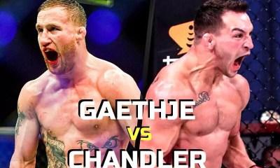 Justin Gaethje vs Michael Chandler en préparation par l'UFC