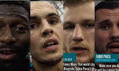 VIDEO SPECIAL GLORY 60 LYON 3 - VIENOT, DOUMBE et BOUANANE au Ring Side de Fabio PINCA