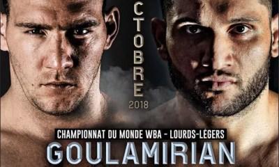 BOXE - Arsen GOULAMIRIAN défendra son titre mondial face à Mark FLANAGAN à Marseille