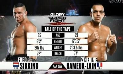Zinedine Hameur-Lain vs Fred Sikking - Full Fight Video - GLORY 26