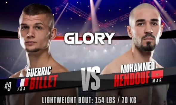 Guerric Billet vs Mohamed Hendouf - Replay vidéo du combat - Glory Kickboxing