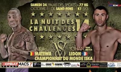 Yohan Lidon vs Alka Matewa - Full Fight Video - Nuit des Challenges 14