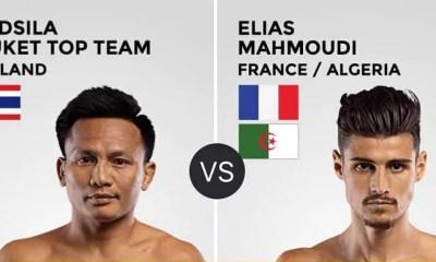Elias MAHMOUDI vs LERDSILA ajouté sur la carte du ONE Championship Mark Of Greatness