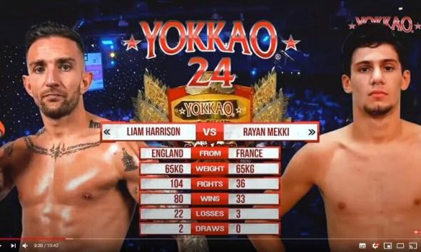 Rayan MEKKI vs Liam HARRISON - Combat de Muay Thai - Vidéo