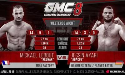 Mickael LEBOUT vs Jessin AYARI - Full Video - GMC 8