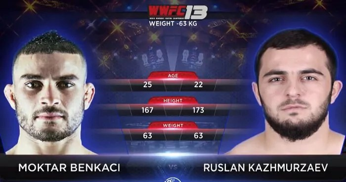 Moktar BENKACI vs Ruslan KAZHMURZAEV - Full Fight Video - MMA WWFC
