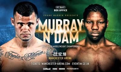 BOXE - Hassan N'DAM vs Martin MURRAY annoncé pour le 22 décembre à Manchester !