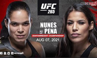 Amanda Nunes vs Julianna Pena officialisé pour l'UFC 265