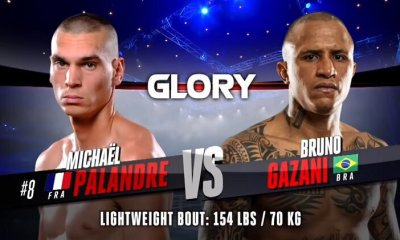 Mickael PALANDRE vs Bruno GAZANI - Full Fight Video - GLORY