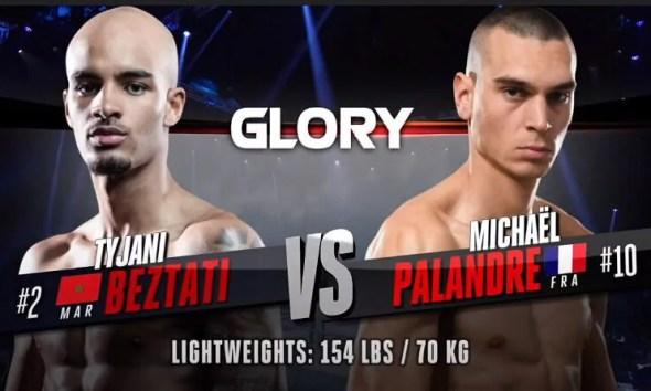 Michael PALANDRE vs Tyjani BEZTATI - Combat de Kickboxing - GLORY 75