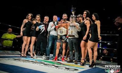 PETROSYAN MANIA - DAMBO tient tête à Giorgio, Reda OUDGOU devient champion du Monde de K-1