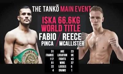 Fabio PINCA vs Reece McALLISTER - Full Fight Video - TANKO 2016