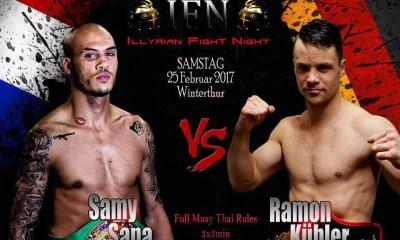 Samy SANA vs Ramon KUBLER - Full Fight Video - IFN Muay Thai