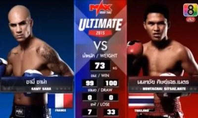 Samy Sana vs Nontachai - Full Fight Video - Max Muay Thai