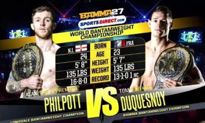 Tom DUQUESNOY vs Alan PHILPOTT - Full Fight Vidéo - BAMMA 27