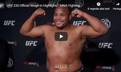 UFC 230 - Replay Video et Résultats de la pesée officielle