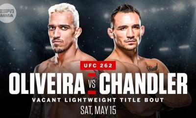 Charles Oliveira vs Michael Chandler pour la ceinture de l'UFC LW à l'UFC262