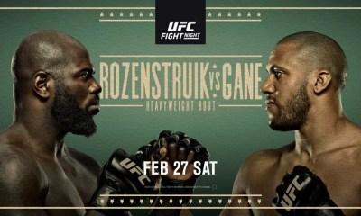 UFC Vegas 20 - Gane vs Rozenstruik - Résultats des combats de la soirée