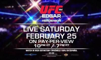 Video promo UFC 144 - Edgar vs Henderson - Officielle.