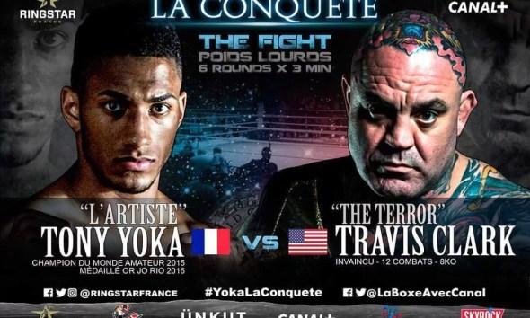 Tony YOKA vs Travis CLARK - Boxing Fight Video - La Conquete