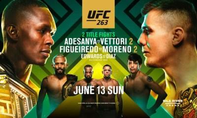 UFC 263 - Adesanya vs Vettori 2 - Direct Live et résultats des combats