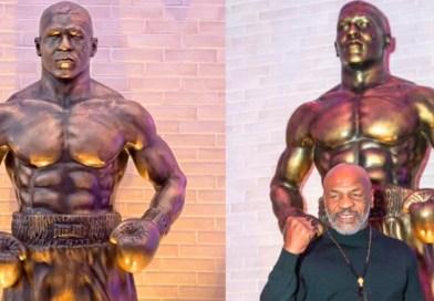 Mike Tyson honrado con una estatua enorme en el Resorts World de Las Vegas