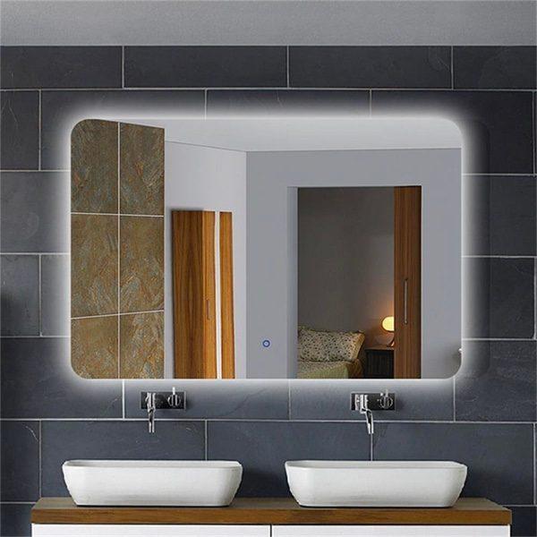 Large Modern Backlit Bathroom decor ideas Mirror
