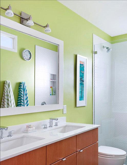 Living Color Bathroom Wall Decor Ideas