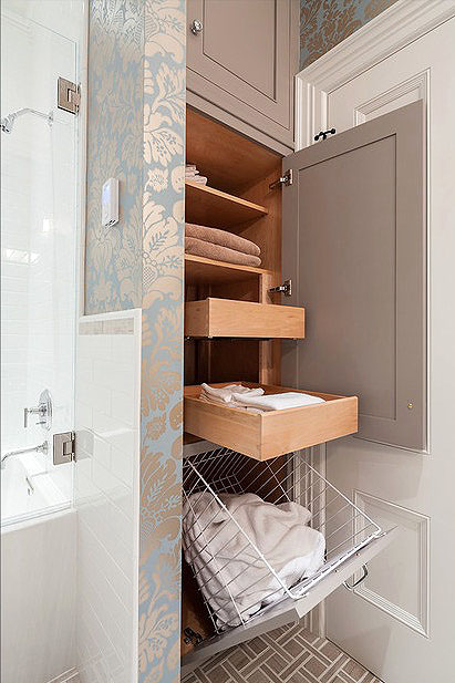 bathroom-decorating Bathroom Wall Decor Ideas maximize storage