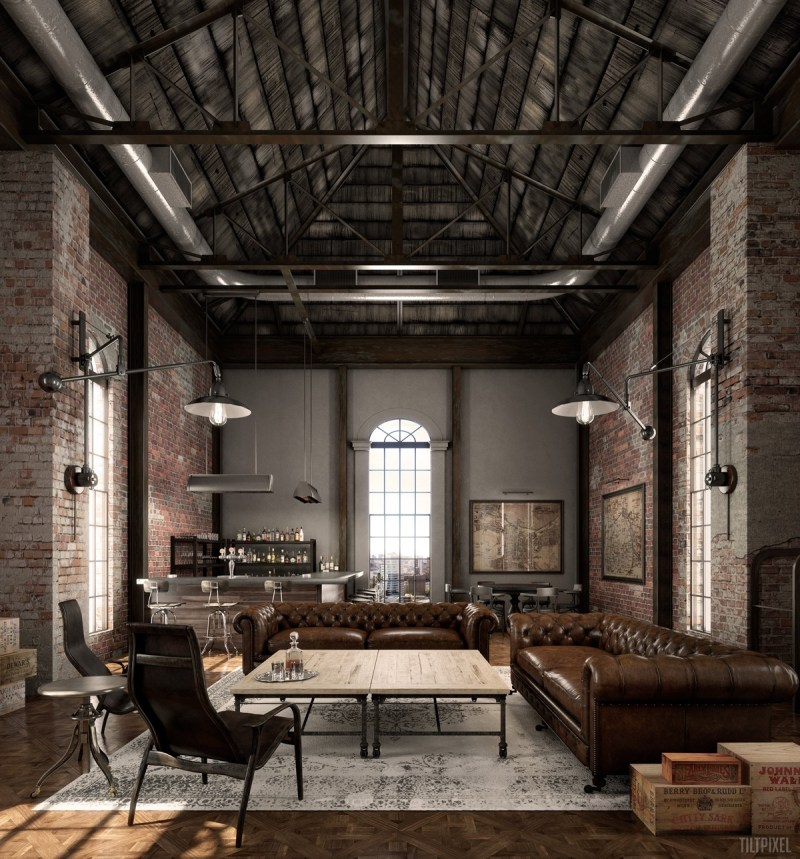 industrial living room lamps