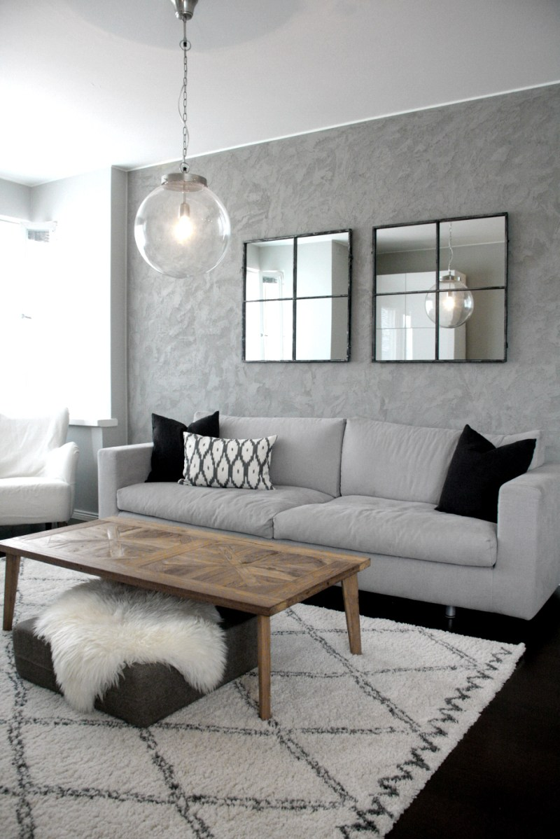 design an industrial living room